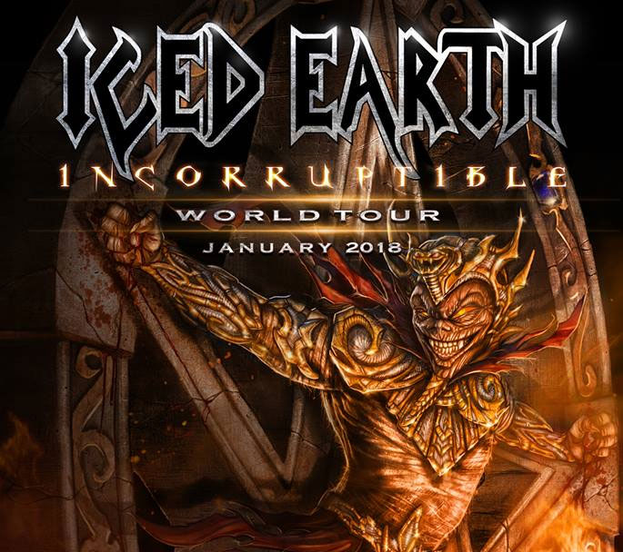 ICED EARTH - AUF INCORRUPTIBLE WORLD TOUR 2018 !